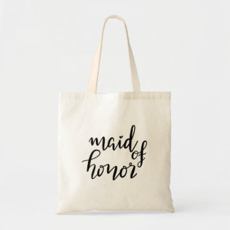 Handwritten Maid Of Honor Script Casual Tote Bag
