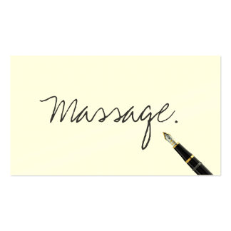 Handwritten Massage Therapy Business Card