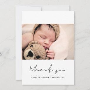 Handwritten minimalist Baby shower thank you card