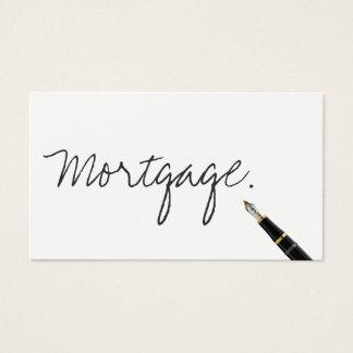 Handwritten Mortgage Agent Business Card