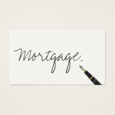 Handwritten Mortgage Agent Business Card at Zazzle