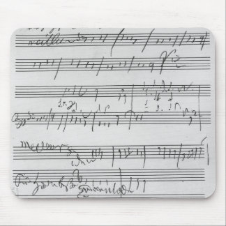 Handwritten musical score mouse pad