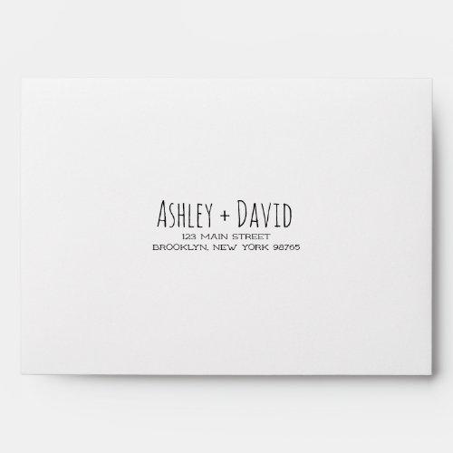 Handwritten Note Card Return Address Envelope