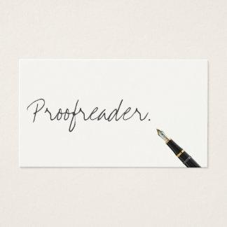 Handwritten Proofreading Business Card