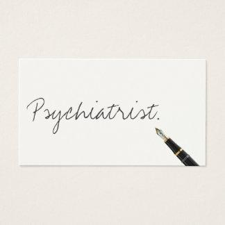 Handwritten Psychiatrist Business Card