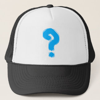 Handwritten Question Mark Trucker Hat
