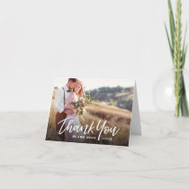 Handwritten Rustic Wedding Thank You Photo Cards