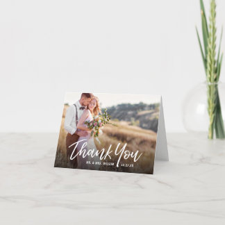 Handwritten Rustic Wedding Thank You Photo Cards