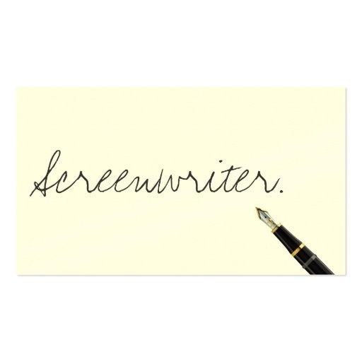 Handwritten screenwriter business card zazzle for Handwritten business cards