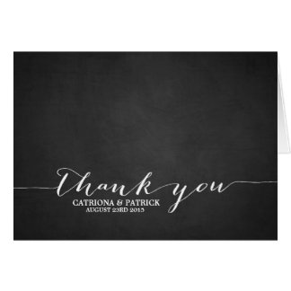Handwritten Script Chalkboard Thank You Postcard Card