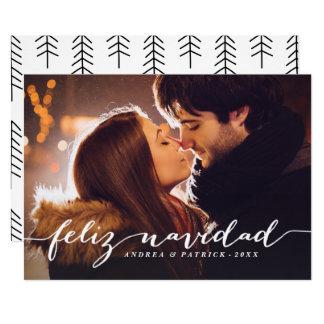 Handwritten Script Feliz Navidad Photo Card