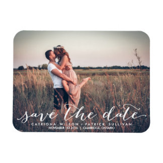 Handwritten Script Save the Date Magnets