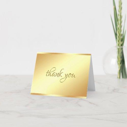 Handwritten Script Text Thank You Gold Template