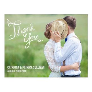 HANDWRITTEN SCRIPT | WEDDING THANK YOU POSTCARD