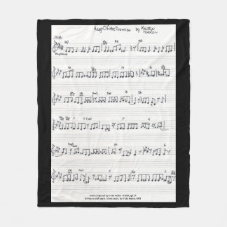 Handwritten Sheet Music fleece blanket