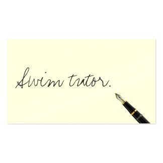 Handwritten Swim Tutor Business Card