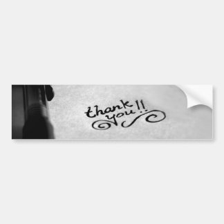 Handwritten Thank You Bumper Sticker