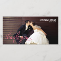HANDWRITTEN Thank You Cards - Pink