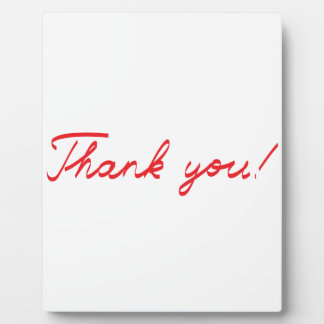 handwritten Thank You note Plaque