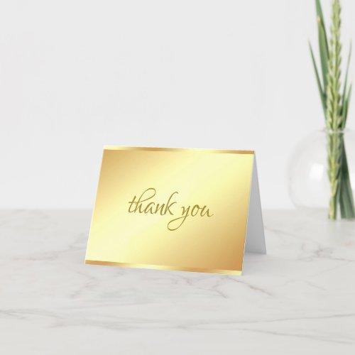 Handwritten Thank You Script Elegant Gold Template