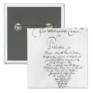 Handwritten Titlepage of The Well Tempered Pinback Button