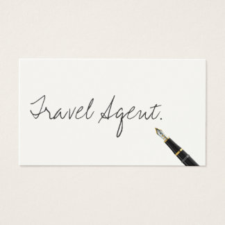 Handwritten Travel Agent Business Card