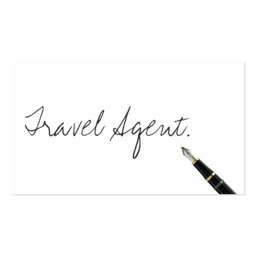 Handwritten Travel Agent Business Card