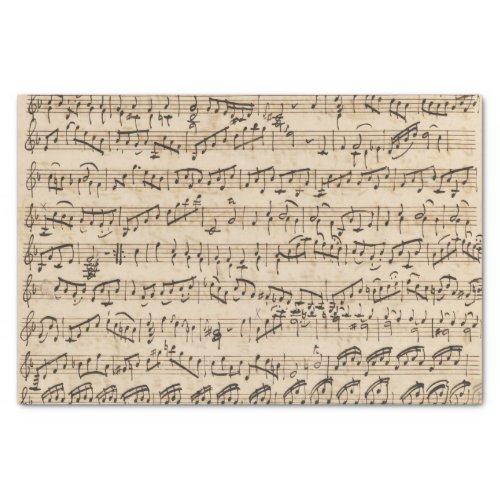 Handwritten Vintage Sheet Music Tissue Paper