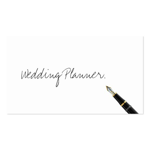 Handwritten Wedding Planner Business Card
