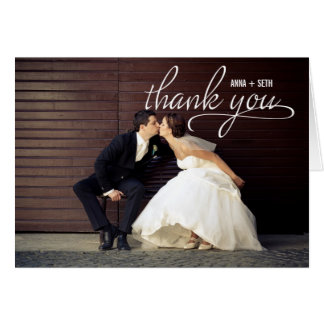 HANDWRITTEN Wedding Thank You Photo Card