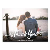 Handwritten Wedding Thank You Postcard