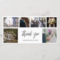 Handwritten Wedding Thank You Six Photo Collage