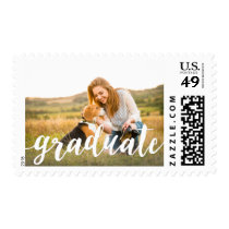 Handwritten White | Photo Graduation Postage