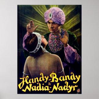 Handy Bandy the Hypnotist Vintage Poster