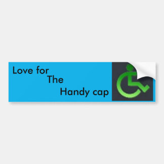 Handy cap bumper sticker