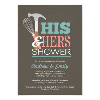 Couples Wedding Shower Invitations with beautiful invitation sample