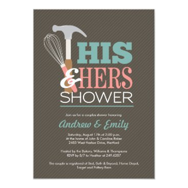 JAmberDesign Handy Couple Shower Invitation