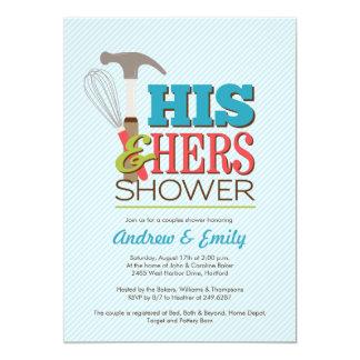 "Handy Couple Shower Invitation 5"" X 7"" Invitation Card"