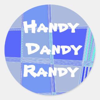 Handy Dandy Randy Classic Round Sticker
