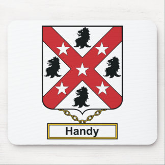 Handy Family Crest Mouse Pad