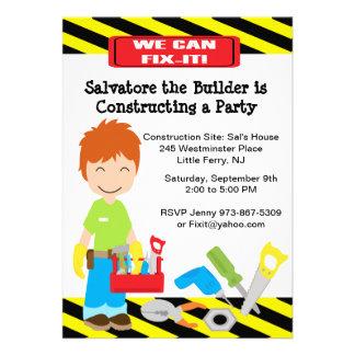 Handy Fix It Boys Birthday Invitation