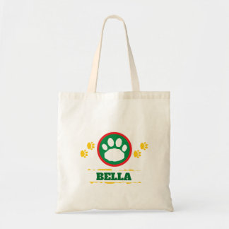 Handy Green and Yellow Pet Paws Tote Bag