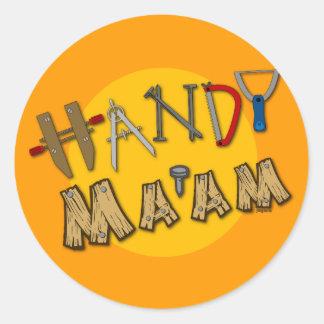 Handy Ma'am Classic Round Sticker