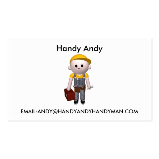 Handy man business cards