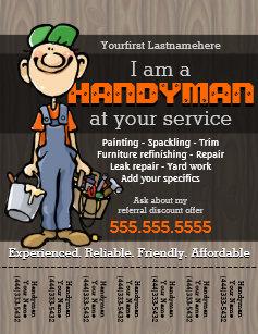 handyman flyers zazzle