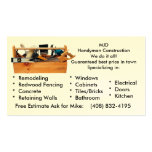 Handy Man Construction Double-Sided Standard Business Cards (Pack Of 100)