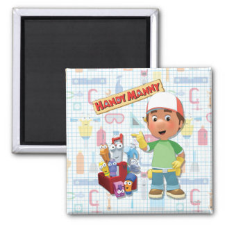 Handy Manny and his Talking Tools 2 Inch Square Magnet