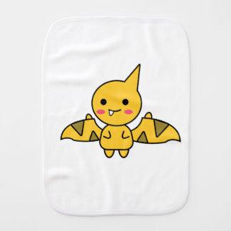 Handy Orange Dinosaur Kawaii Cartoon Baby Burp Cloth
