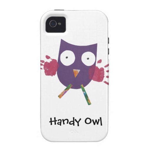 Handy Owl - iPhone4 Case-Mate iPhone 4 Covers