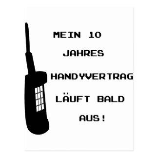 Handy Vertrag Spruch icon Postcard